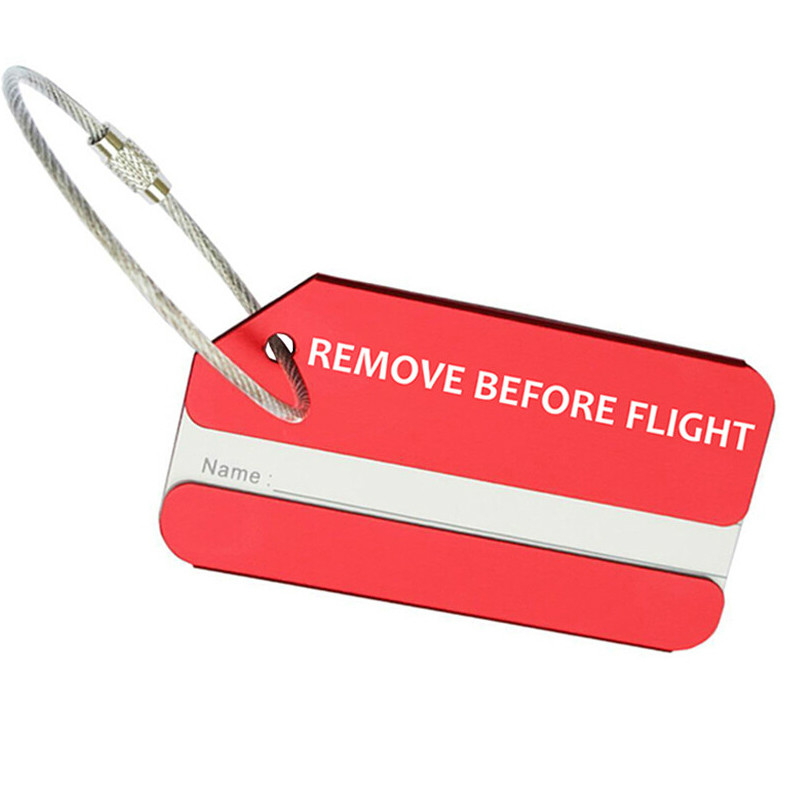 Luggage Tag REMOVE BEFORE FLIGHT Travel Tag Suitcase Id Address Holder Baggage Boarding Tags Portable Label Travel Accessorles