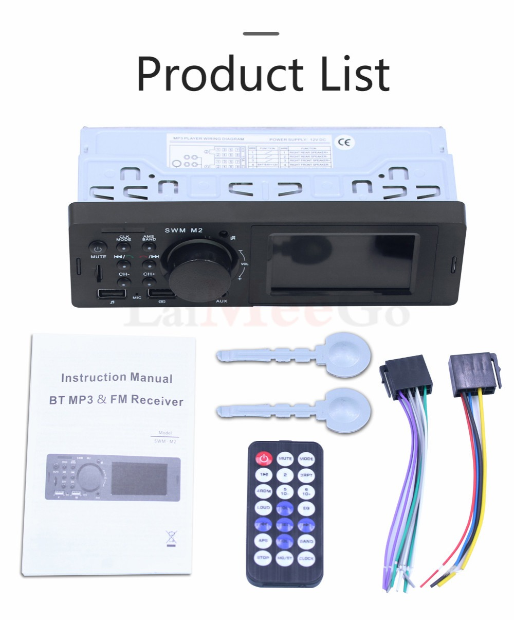 Bluetooth FM AUX Mp3 Bluetooth Car Radio Stereo Receiver 1 Din Auto Cars Audio Modulator Central Multimedia Cassette player (34)