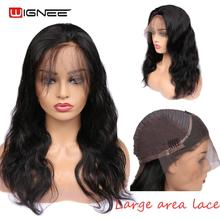 Wignee Lace Front Human Hair Wigs With Baby For Women Remy Brazilian Pre-plucked Natural Hairline Body Wave Wig