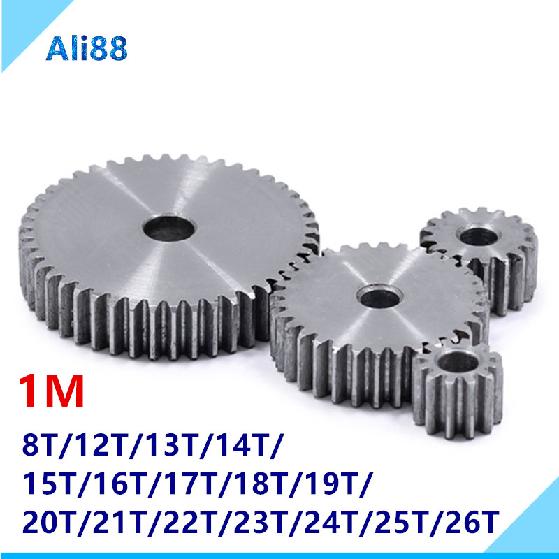 1vMold Is 45 # Steel Pinion And Rack Straight Gear Is Gear 10 Mm Thickness 8 To 200 Tooth Hole Process