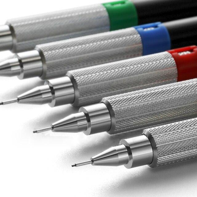 1 pièces Uni M5-552 crayon mécanique dessin professionnel 0.3 / 0.4 / 0.5 / 0.7 / 0.9mm métal corps crayon mobile