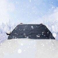 210*120cm magnes samochodowy szyba samochodowa śnieg lód mróz wiatr osłona przeciwpyłowa parasol przeciwsłoneczny Fornt tylne pokrywy pokrowiec na przednią szybę w samochodzie w Pokrowce na samochód od Samochody i motocykle na