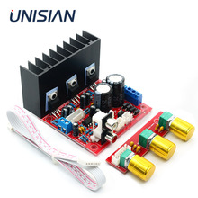 UNISIAN TDA2030A 2.1 kanal güç amplifikatörü kurulu TDA2030 üç kanallı bas tiz hoparlör amplifikatörler ev ses sistemi için