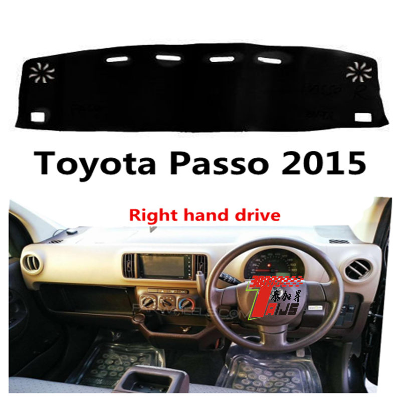 Taijs Right Hand Drive Car Dashboard Cover For Toyota Passo 2015 Anti Cracking Polyester Fiber Lighting Preventing High Quality