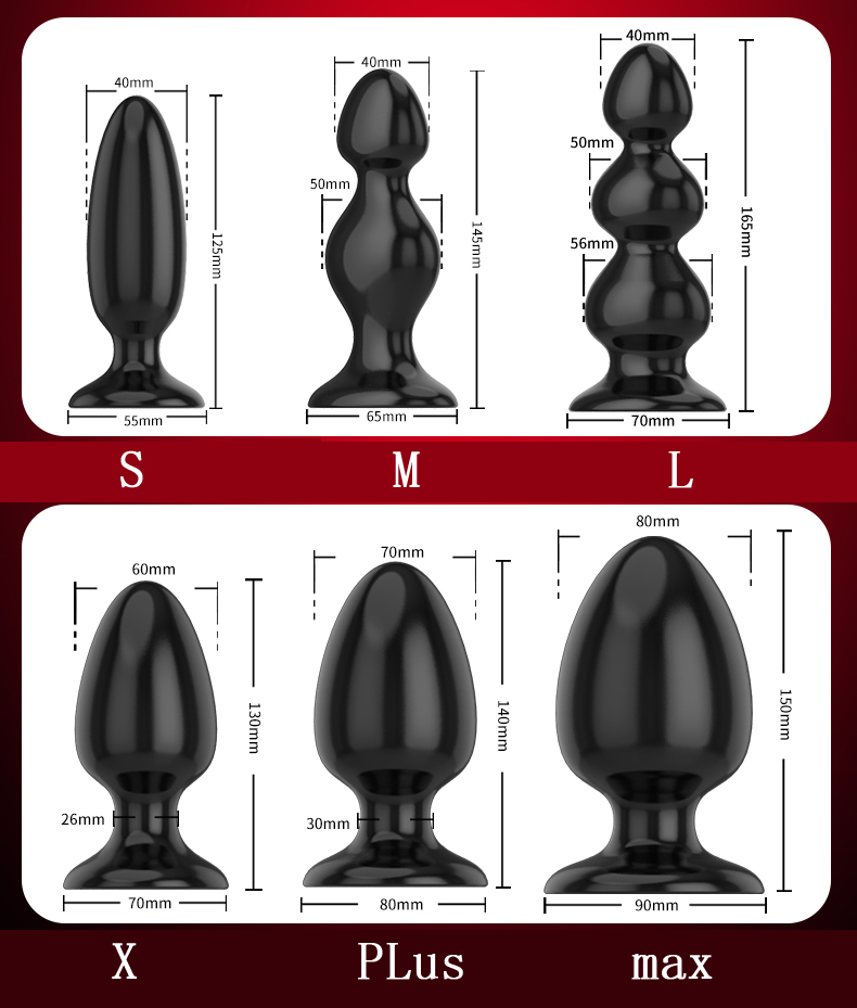 Silicone preto grande butt plug 6 tamanhos suave macio enorme anal plug adulto brinquedos eróticos gay adulto sexo brinquedos para homens mulher produtos do sexo