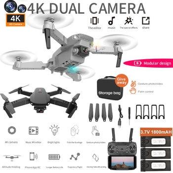 Dron teledirigido con cámara 4K HD Dual 1080P 720P, fotografía aérea, helicóptero plegable, cuadricóptero profesional con retención de altura, regalo