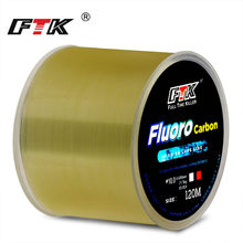 FTK 120m Fishing Line 0.2mm-0.6mm 7.15LB-45LB Fluorocarbon Coating Treatment Process Carbon Surface Nylon Molecules