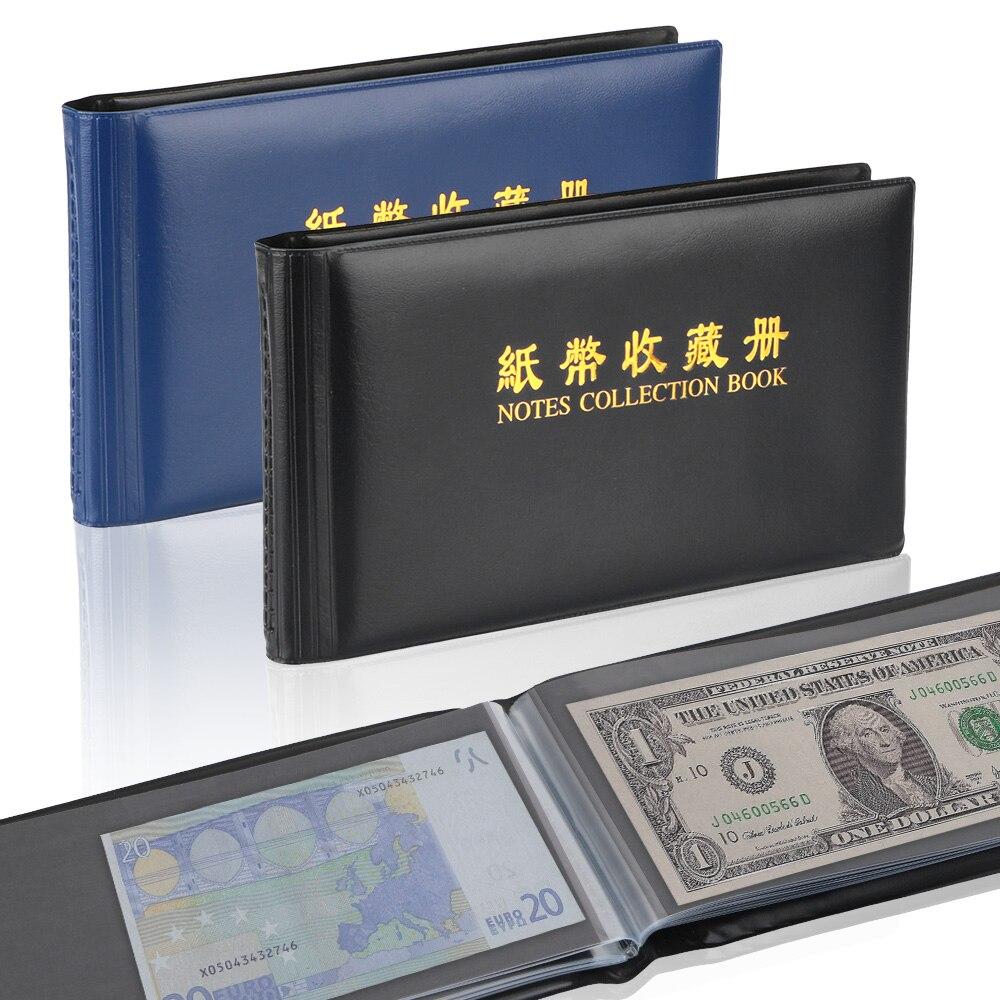 30 страниц сбор бумажных денег альбом коллекция карманы с отрывными листами лист для коллектор защитная сумка детектор денежных банкнот