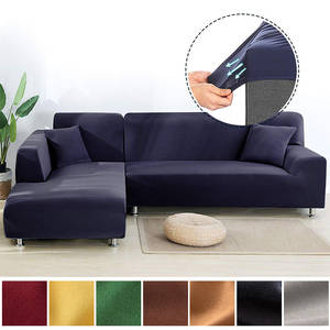 Sofa-Cover Chaise Couch Stretch Elastic-Corner Living-Room L-Shaped Modern for Super-Soft