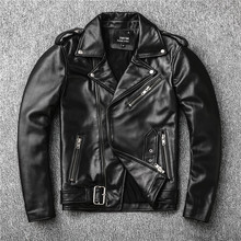 Free shipping,Sales!Brand new genuine leather jacket.mens motor biker