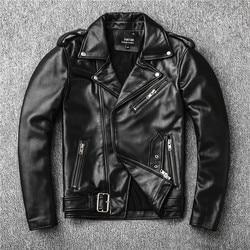Free shipping,Sales!Brand new genuine leather jacket.mens motor biker sheepskin coat.slim plus size jackets.leather outwear
