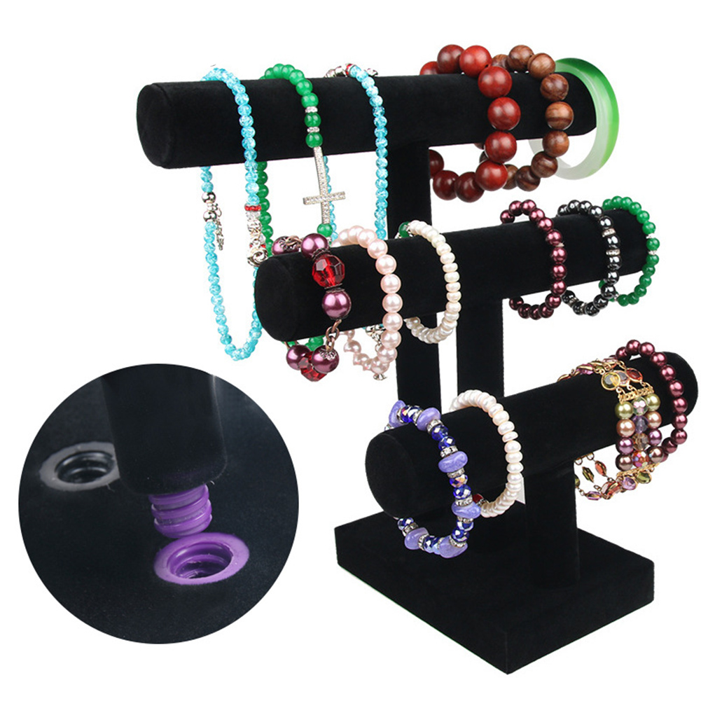 Jewelry Organizer Display Stand Jewelry Accessory Necklace Bracelet Holder Display Stand Jewlery Storage 3 Tiers Counter Rack