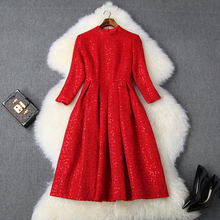 Office Lady Sequins dress Spring 2019 new Superior quality Keep warm Women Knee Length Party Dress xl winter Celebrities dresses