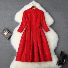 Ofis Lady Sequins elbise bahar 2019 yeni üstün kalite tutmak sıcak kadınlar diz boyu parti elbise xl kış ünlüler elbiseler