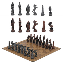 Metal Theme Chess Luxury Knight Table Game Entertainment Toy Leather Board set Gift Dragon Soldier Theme Sports