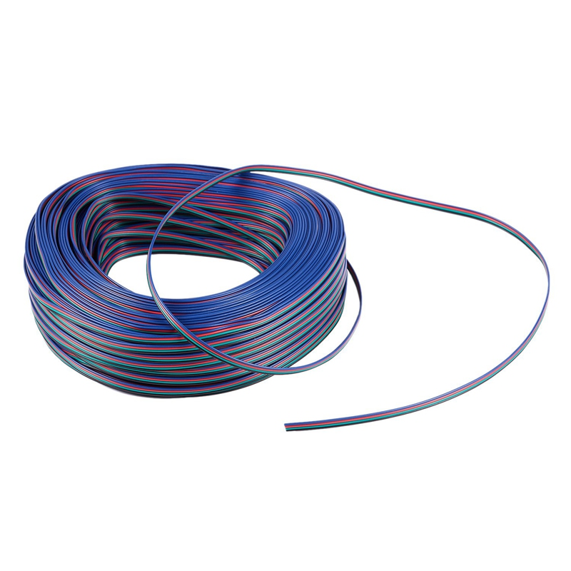 Connecteur d'extension RGB à XD-4 broches 4 fils câble 3528/5050 RGB LED mètre de lumière de bande: 100M