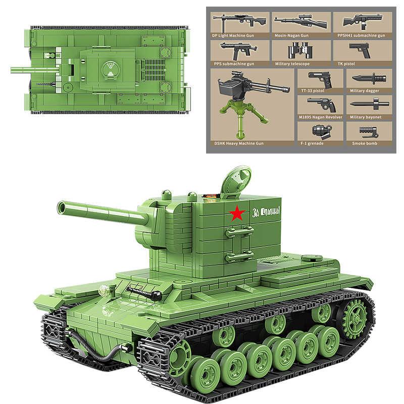 سلسلة دبابات السوفياتي نموذج اللبنات العسكرية مدينة الجندي سلاح الشرطة الطوب مجموعات اللعب للبنين
