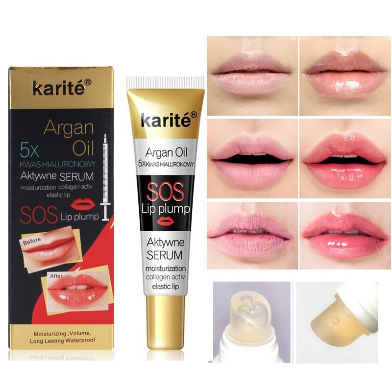 17ML Instant Volumising Lip Plumper Moisturizing Lip Repairing Reduce Lip Fine Lines Brighten Lip Color Collagen Lip Plumper Oil
