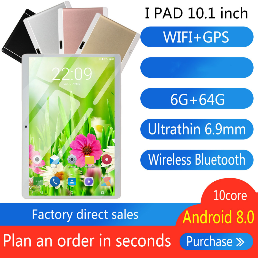 2019 Free Shipping 10 Inch 3G Phone Tablet PC Android 8.0 Octa Core RAM 6GB ROM 32GB 64GB