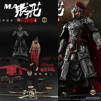 Collectible In Stock 1/6 Full Set Male Action Figure CHINA Zhang Fei Chinese Ancient Three Kingdom Black General DOll Model