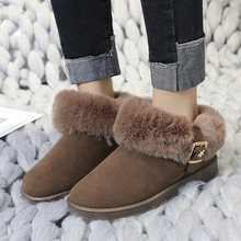 Women Winter Boots Keep Warm Snow Ankle Shoes New Fashion Color Ladies Fur 2019 Classic
