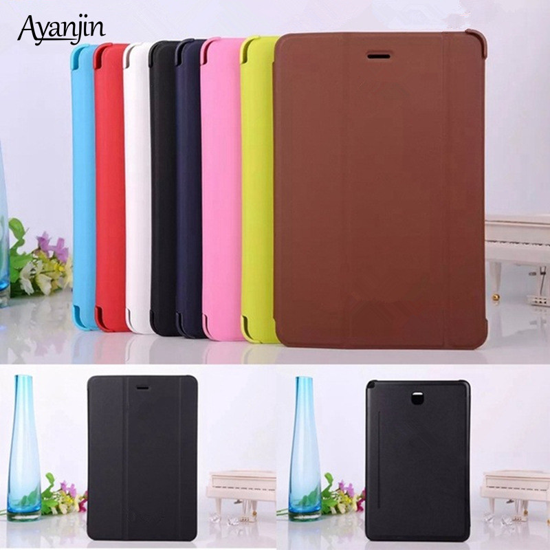 Ultra Slim PU Leather Smart Case For Samsung Galaxy Tab A 8.0 T350 T351 T355 P350 P351 P355 Business Book Tablet Cover+Stylus