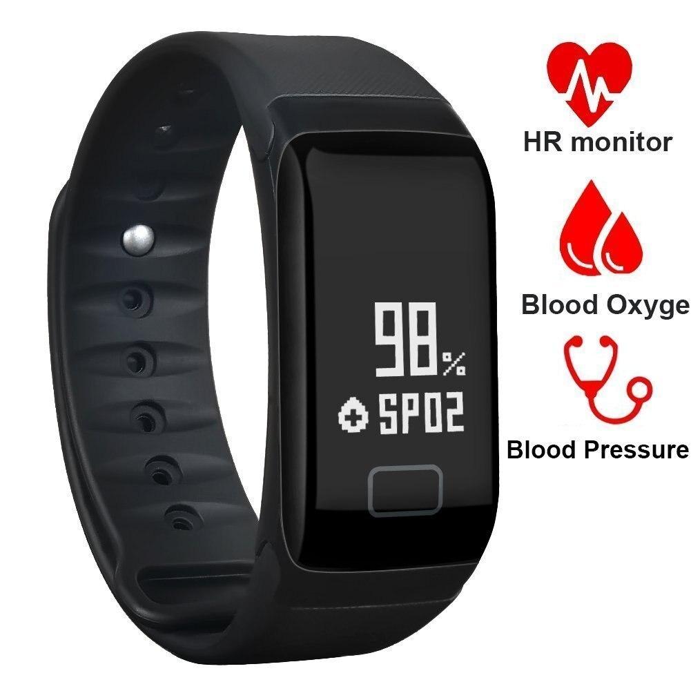 Умные браслеты с Bluetooth F1, монитор артериального давления, фитнес-браслет с трекером активности, умный Браслет, умный браслет с шагомером, бра...