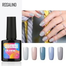 ROSALIND Gray Smog Blue Nail Polish UV Gue 10ml