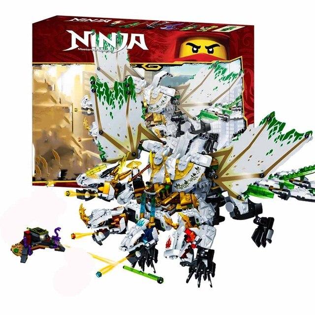 1100pcs 닌자 신기루 궁극적 인 드래곤 복잡한 호환 lepining ninjagoes 빌딩 블록 벽돌 장난감 액션 피규어 장난감 선물