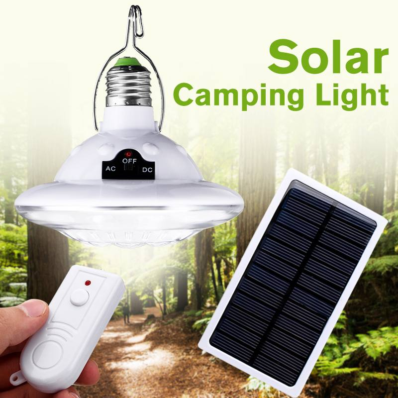 22LED Outdoor Solar Lamp Hooking Camp Garden Path Lighting With Remote Control Solar Panel Lamp