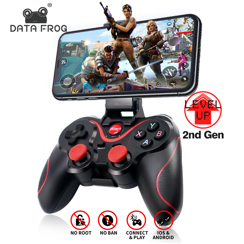 DATA FROG Bluetooth Wireless Gamepad Game Controller For PS3 TV PC <font><b>Laptop</b></font> <font><b>Joystick</b></font> For Iphone Android Smart Phone Controller image