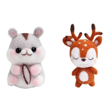 Doll Needle-Material Wool-Felt-Kit Animal No for Bag-Pack Beginner Non-Finished And Women