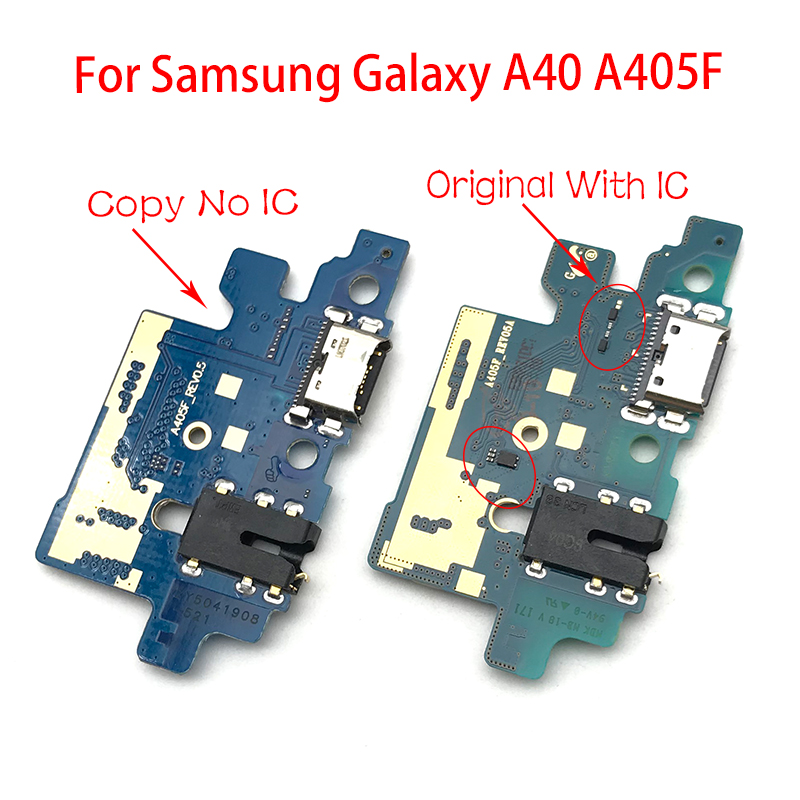 New Dock Connector Micro USB Charger Charging Port Flex Cable For Samsung Galaxy A405F A40 A405 Replacement Parts