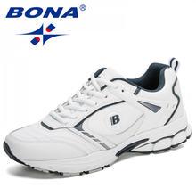 Кроссовки bona мужские кожаные спортивная обувь для бега и ходьбы