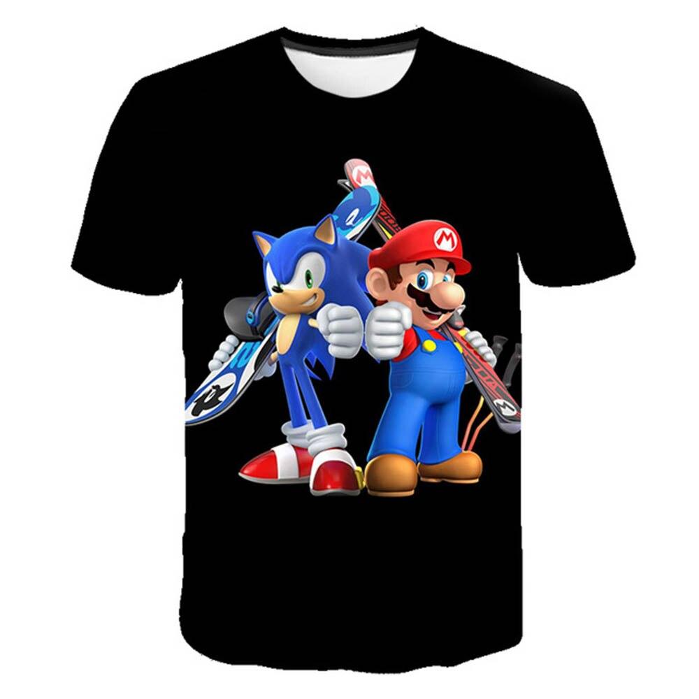 Новинка 2020, футболка с 3D принтом из мультфильма, крутая Мужская и женская детская футболка для мальчиков и девочек, детский топ с коротким ру...