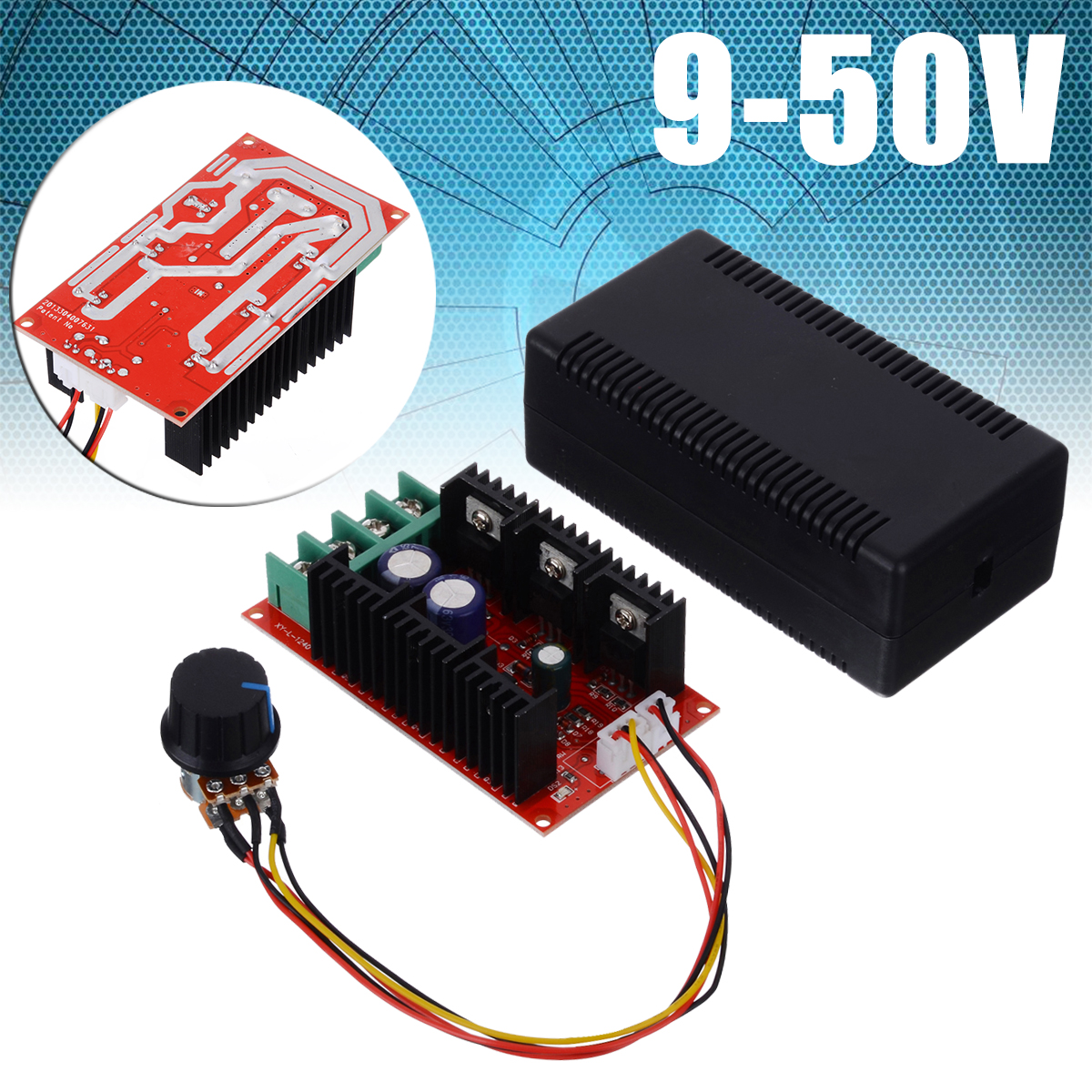 9-50V 2000W 40A Motor Speed Control Module PWM HHO RC Controller DC 12V 24V 48V Electrical Equipments & Supplies