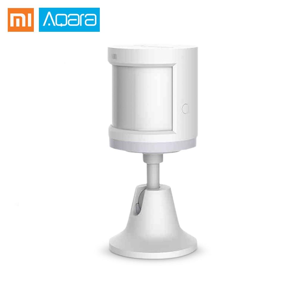 Aqara Smart Human Body Motion Sensor With Battery ZigBee Wireless Connection Built In Light Intensity Sensors Work APP Contral