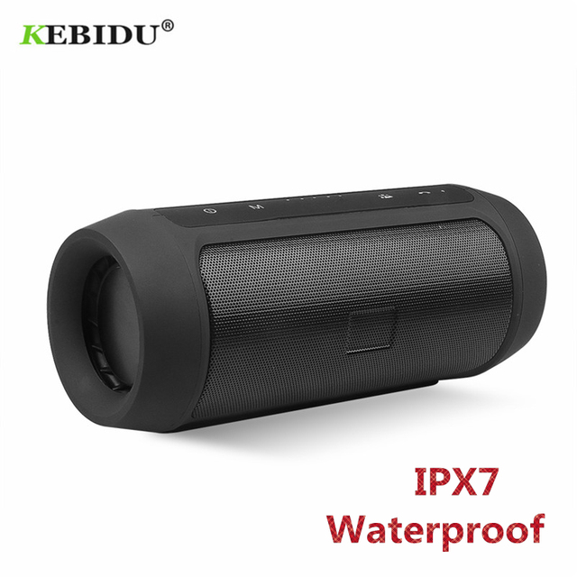 KEBIDU High Power Bluetooth Speaker Portable Wireless Loudspeakers Sound Bar for Computer Music Player Waterproof IPX7 Speaker