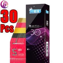 MingLiu 30 Pcs/Pack 5 Types Sexy Latex Dots Pleasure Nautural Rubber Penis Condoms for Men Sex Erotic Male Contraception Condom