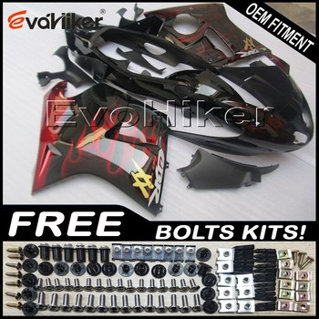 Custom fairing motorcycle bodywork kit for CBR1100XX 1997-2003 ABS motorcycle panels Injection mold red flames+Gifts