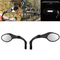 Bike Left Rearview Mirror Firm Safety Bicycle Rear View Glass Right Adjustable Cycling Rearview Left Right Mirror|Bike Mirrors|   -