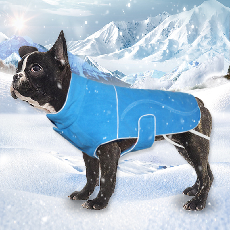 Одежда для домашних животных зимняя модная теплая одежда для собак утолщенная Светоотражающая холодная ловля флисовые товары для
