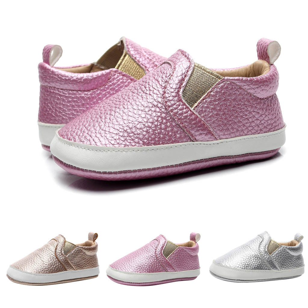 Baby Shoes Winter Male And Female Baby Elastic Mouth Soft Bottom Toddler Shoes Baby Shoes Anti-slip Prewalker Sneakers 0-12M