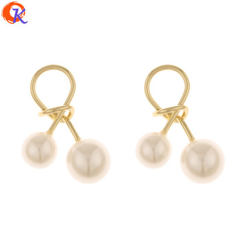 Cordial Design 50Pcs 19*27MM Jewelry Accessories/DIY/Charms/Imitation Pearl/Tie Knot Shape/Hand Made/Pendant/Earring Findings фото