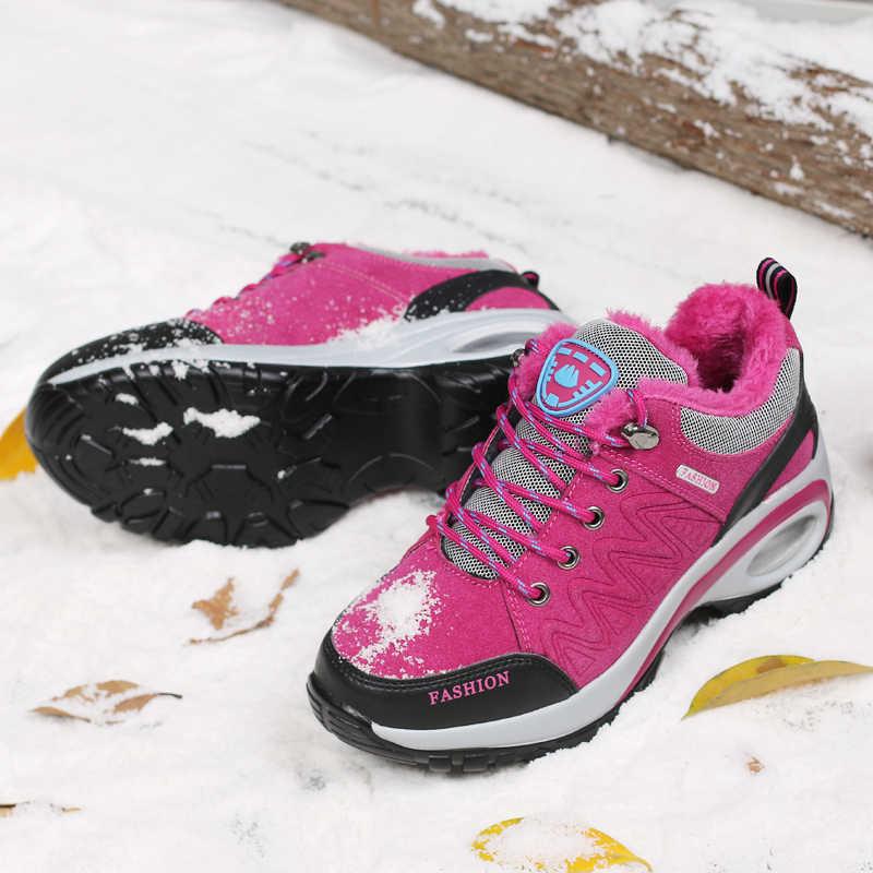 CINESSD kadın botları 2019 sıcak kış kadın ayakkabısı akın bileğe kadar bot kadın Botas Mujer peluş bayanlar kar platformu kırmızı çizmeler