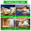 268 LED Solar Powered Lamp for Garden Decoration Solar Energy Motion Sensor Light Outdoor Wide Angle Street Wall Lamp Waterproof promo