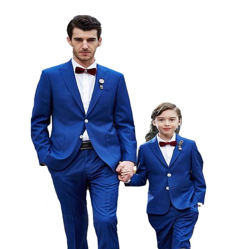 Blue Mans Suits For Wedding Groom Tuxedos Groomsman Suits Dinner Suits Prom Dress Groom Wear Peaky Binders 2Piece(Jacket+Pants)