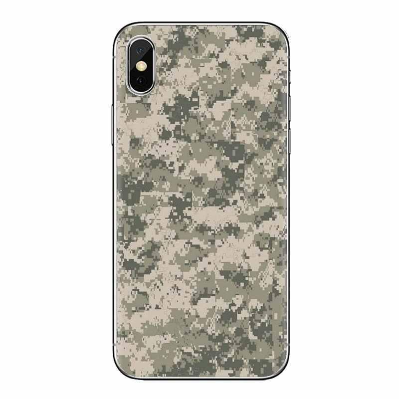Per Huawei Compagno Honor 4C 5C 5X6X7 7A 7C 8 9 10 8C 8X20 lite Pro Army Camo Camouflage Trasparente Morbido Borsette Coperture