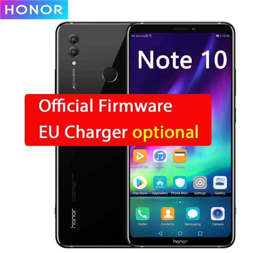 Honor Note 10 Kirin 970 Octa Core Mobile Phone Dual SIM 6.95 Inch Android 8.1 Fingerprint ID NFC 5000mAh Battery OTA