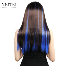 Extension synthétique lisse simple Ombre-Neitsi | Postiche naturelle, cheveux longs lisses, couleur # TF2517, 20 '', 2 pièces/paquet(China)